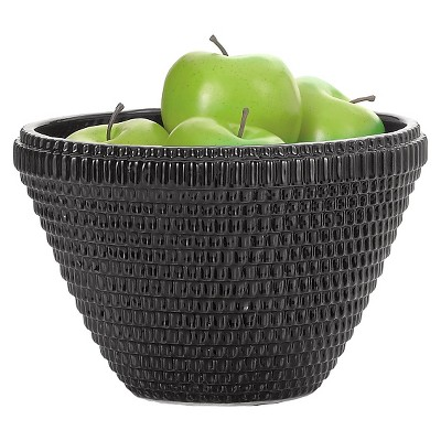 Decorative Bowl Torre & Tagus Black Ceramic