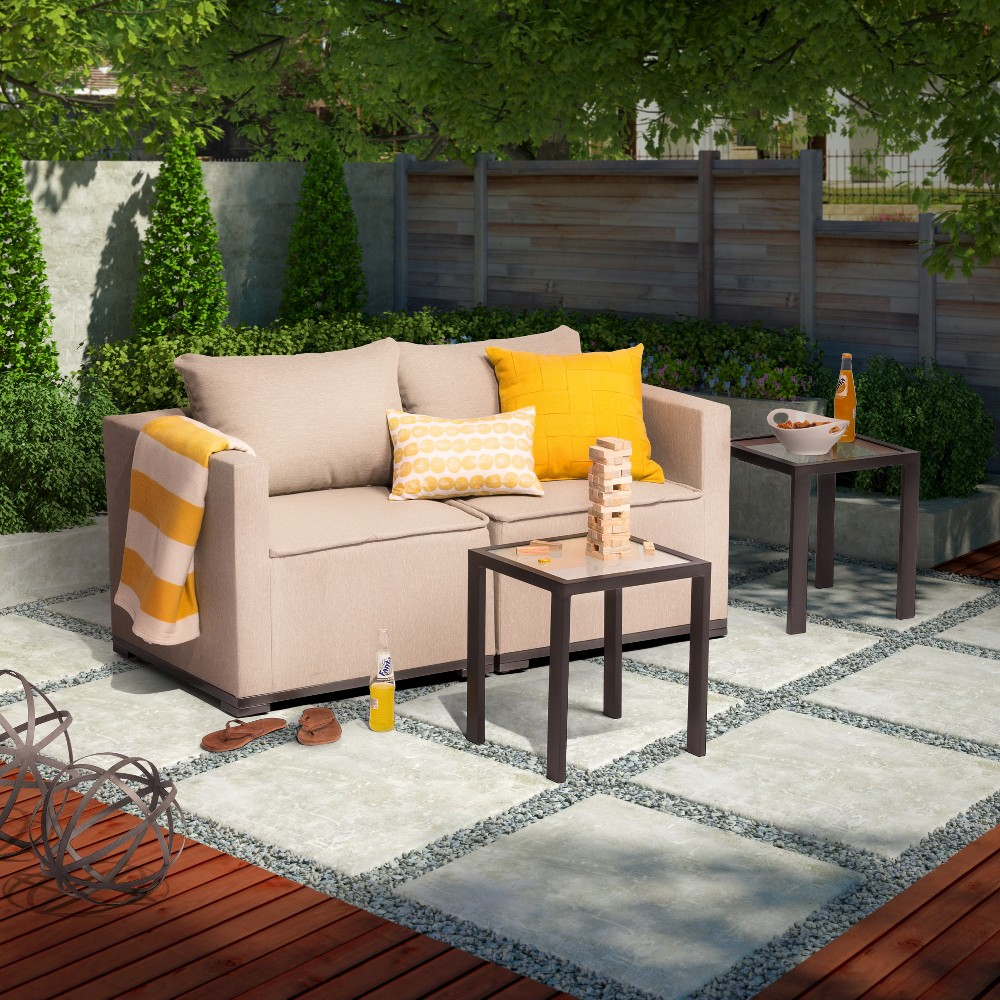 Patio Seating Set Threshold Lynnhurst 2 piece Upholstered Pat
