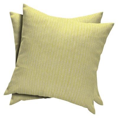 2-Piece Outdoor Toss Pillow Set - Citrus Herringbone  - Room Essentials™