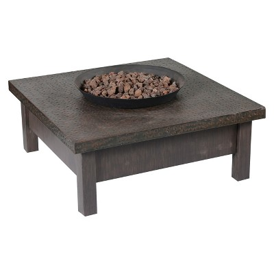 "Larkspur 18"" Propane Fire Pit Table- External Tank"