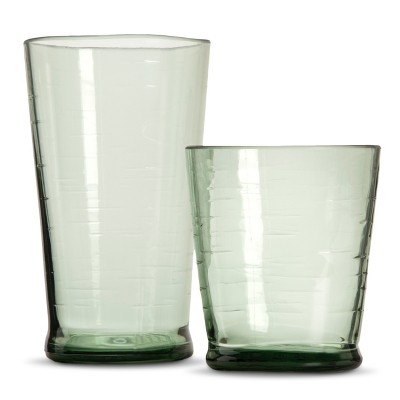 Plastic Salud Short and Tall Tumbler Set of 8 Green - Threshold™