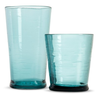 Plastic Salud Short and Tall Tumbler Set of 8 Blue - Threshold™