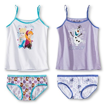 Disney® Frozen Girls' 4-Pack Tank Top and Hipster Brief Set