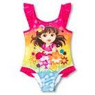 Toddler Girls' Dora the Explorer One Piece Swimsuit