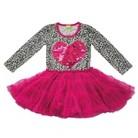 Infant Toddler Girls' Long Sleeve Sequin Heart Tutu Dress