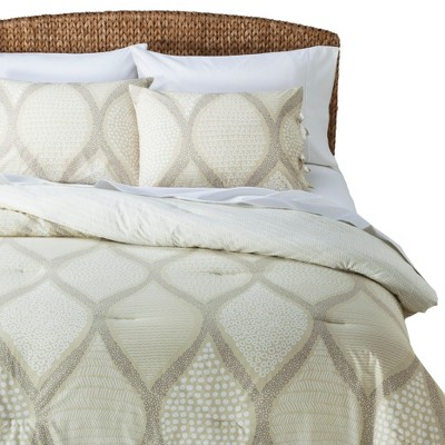 Mudhut™ Ogee Comforter Set - Beige/Cream (Full/Queen)