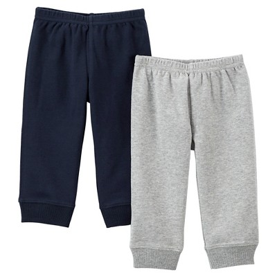 Just One You™Made by Carter's® Newborn Boys' 2 Pack Pant - Heather Grey/Navy 9 M