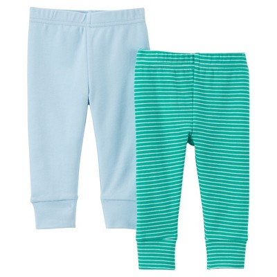 Just One You™Made by Carter's® Newborn Boys' 2 Pack Pant - Light Blue/Green 3 M
