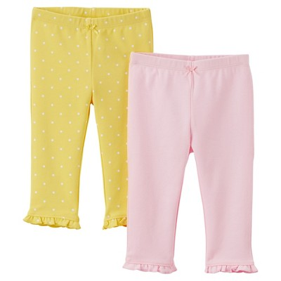 Just One You™Made by Carter's® Newborn Girls' 2 Pack Pant - Pink/Yellow 12 M