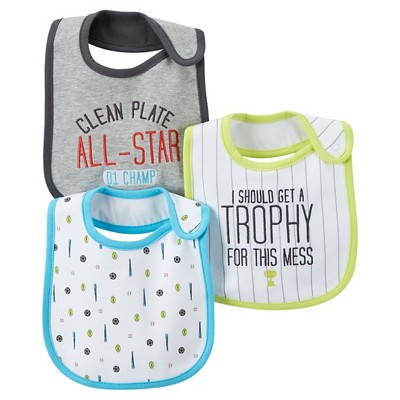 Just One You™Made by Carter's® Newborn Boys' 3 Pack Sports Bib Set