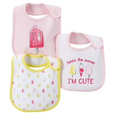 Just One You™Made by Carter's® Newborn Girls' 3 Pack Ice Cream Bib Set