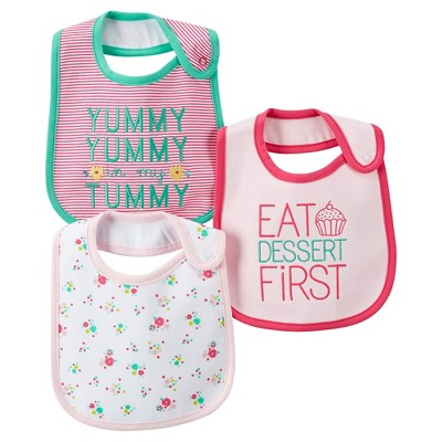 Just One You™Made by Carter's® Newborn Girls' 3 Pack Floral Bib Set