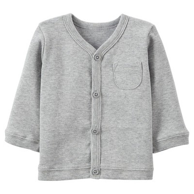 Just One You™Made by Carter's® Newborn Boys' Long-sleeve Cardigan - Grey M