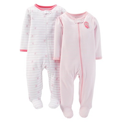Just One You™Made by Carter's® Newborn Girls' 2 Pack Owl Sleep N' Play 6 M