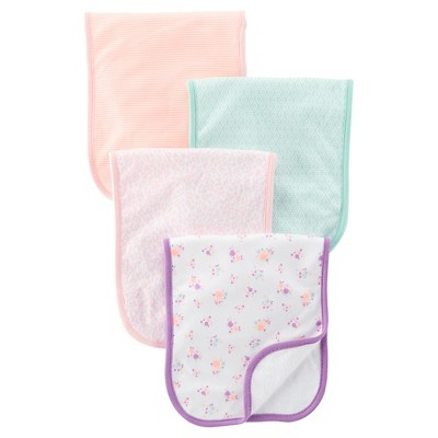 Just One You™Made by Carter's® Newborn Girls' 4 Pack Burp Cloth Set