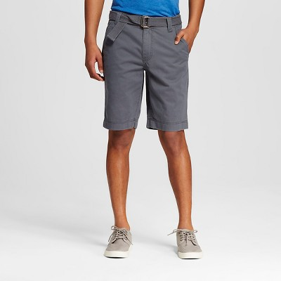 Men's Belted Flat Front Short Gray 30- Mossimo Supply Co.™