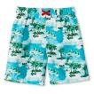 Boys' Palm Tree Swim Trunks