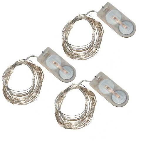Battery Powered Mini LED String Lights - White : Target