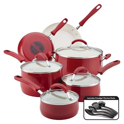 Farberware New Traditions 14 Piece Aluminum Nonstick Cookware Set