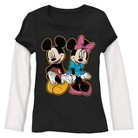 Minnie & Mickey Girls' Graphic 2-Fer Tee
