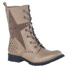 Gia-Mia Women's Combat Dance Boots - Taupe