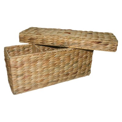 Threshold™ Wicker Compartment Decorative Basket