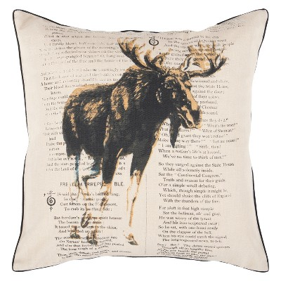 Sweden Rustic Chic Pillow 18  x 18