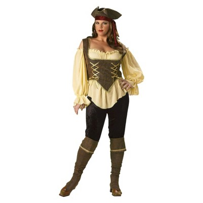 Women's Rustic Pirate Lady Costume X-Large/XX-Large