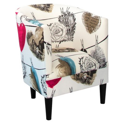 Skyline Vallila Tub Chair - Hearts