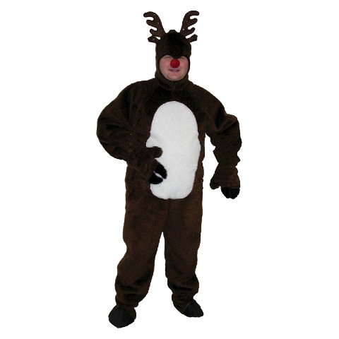 Men s plush rudolph the red nosed reindeer costume product details