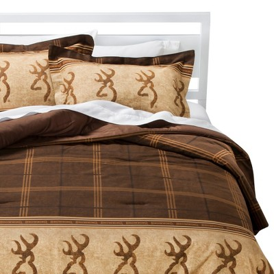 Browning Buckmark Comforter Set California King - Brown