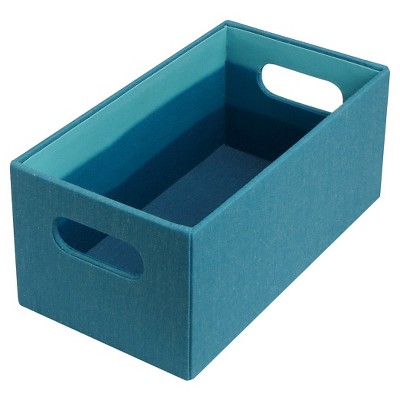 Room Essentials  CD/DVD BoxTeal solid exterior and ombre interior - Quarter Bin