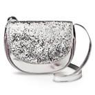 Girls' Silver Glitter Crossbody Purse