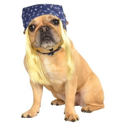 Image of Bandana Hair Pet Costume - Medium