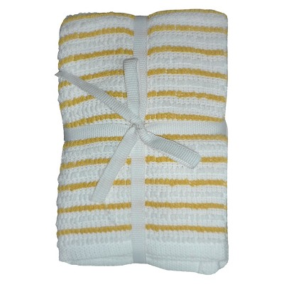 Room Essentials™ Stripe Dish Cloth 6-pack - Yellow