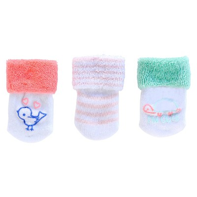 Just One You™Made by Carter's® Newborn Girls' 3 pack Casual Socks 0-3 M
