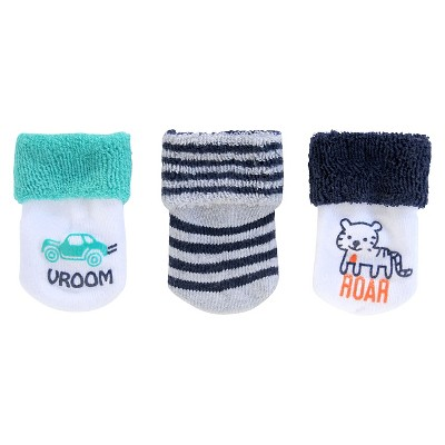 Just One You™Made by Carter's® Newborn Boys' 3 pack Casual Socks 0-3 M