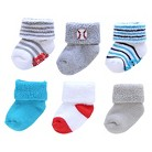 Just One You™Made by Carter's® Newborn Boys' 6 pack Casual Socks 0-3 M