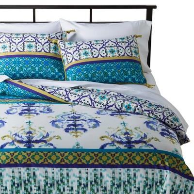 Himalaya Duvet Cover Set Full/Queen Blue&Green - Boho Boutique™
