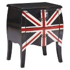 Zuo Union Jack Small Console Table - Distressed Black