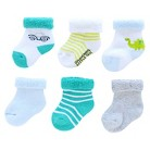 Just One You™Made by Carter's® Newborn Boys' 6 Pack Dino and Car Socks 0-3 M