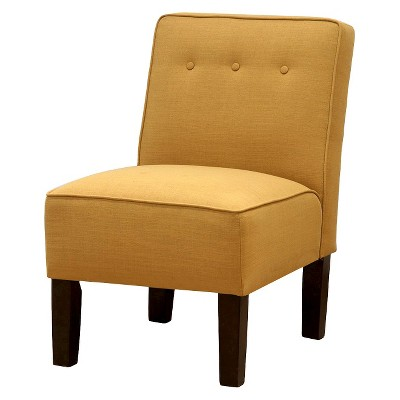 Skyline Slipper Chair with Buttons - Yellow