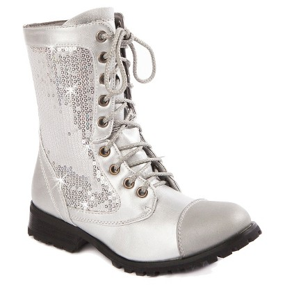 Girl's Gia-Mia Sequin Kombat Boots