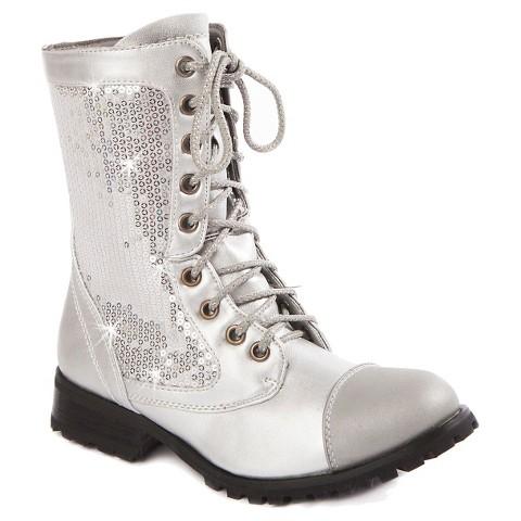 Gia-Mia Girl's Sequin Kombat Boots