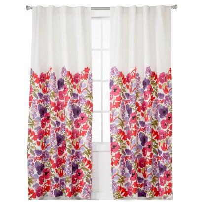 Boho Boutique Garden Lined Curtain Panel Floral 42x84 Quot