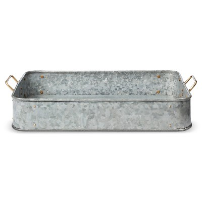 Galvanized Decorative Tray - Smith & Hawken™