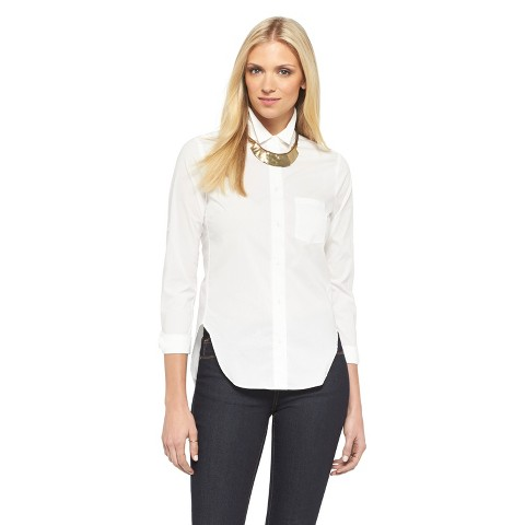 Women's Button Down Shirt Fresh White