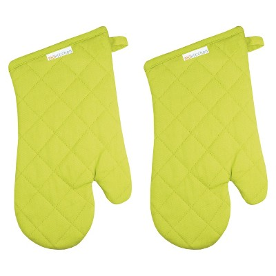 Mu Kitchen Oven Mitt Set of 2 -Pear Green