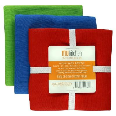 Cotton Solid Color Flour Sack - Set of 3 - Jewel