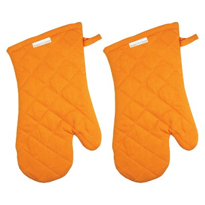 Mu Kitchen Oven Mitt Set of 2 -Orange